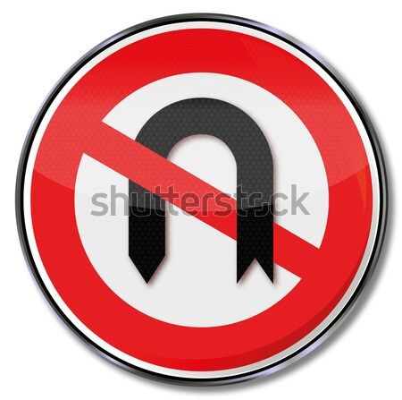 Prohibition sign for food at the workplace Stock photo © Ustofre9