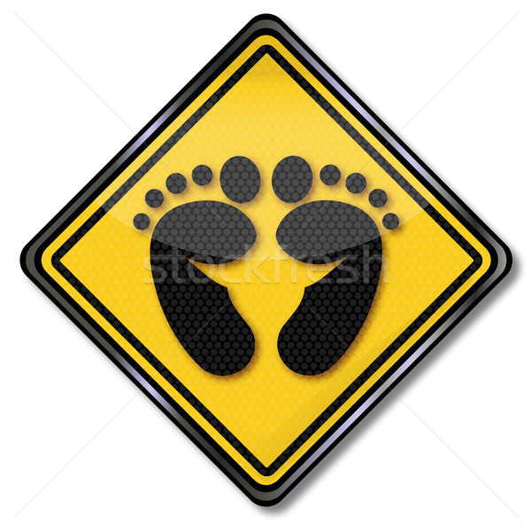 Sign with footprint Stock photo © Ustofre9