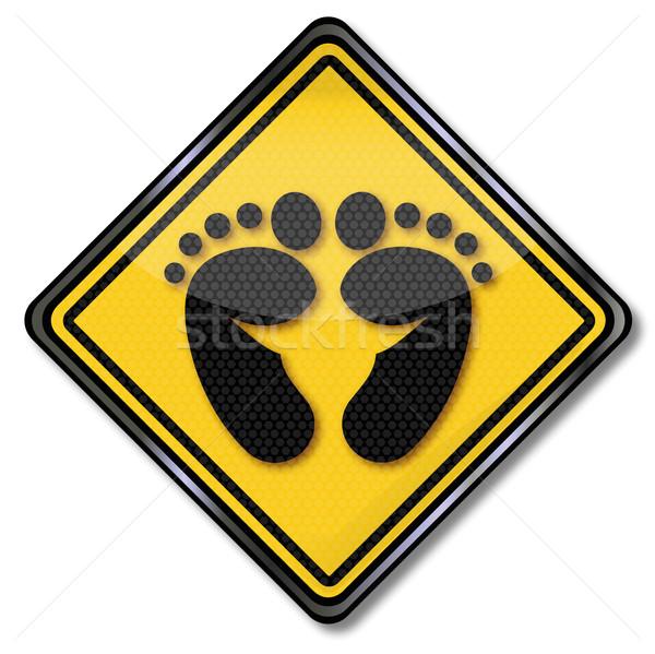 знак след здоровья спортивных признаков ногу Сток-фото © Ustofre9