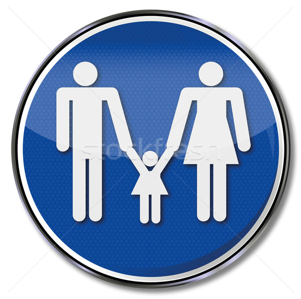 Sign nuclear family with toddler Stock photo © Ustofre9