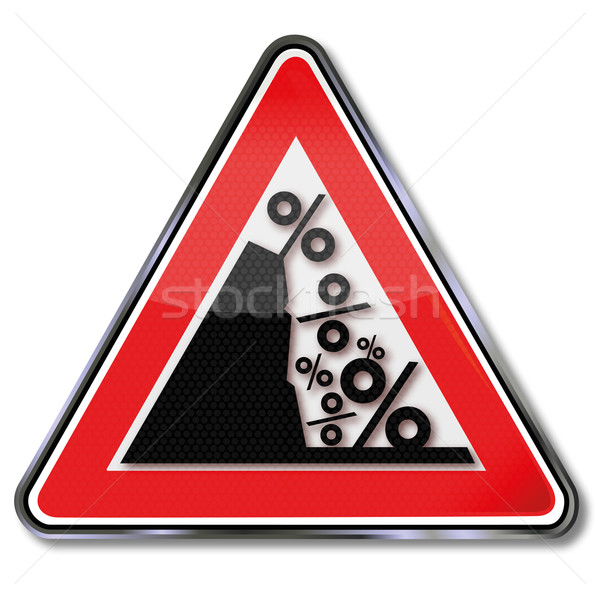 Sign price fall and percentages Stock photo © Ustofre9