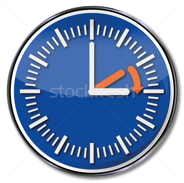 Sign summer time and time zone Stock photo © Ustofre9