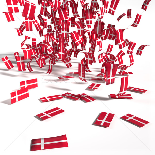 Many leaflets and flags of Denmark  Stock photo © Ustofre9