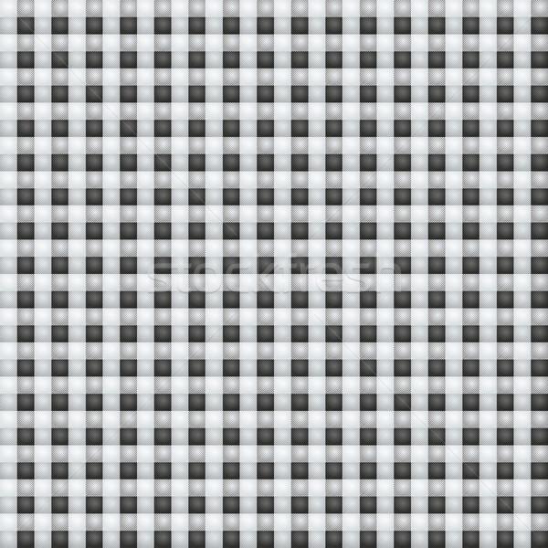 Small black eyed white fabric with checks Stock photo © Ustofre9