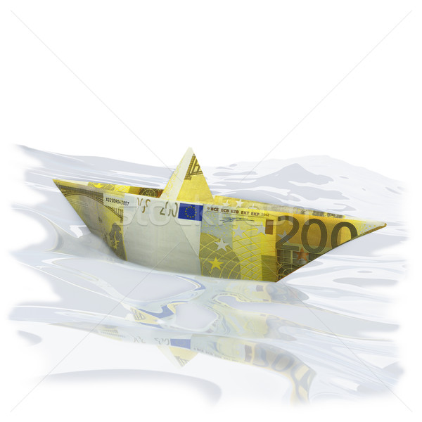 Paper boat with 200 Euros Stock photo © Ustofre9
