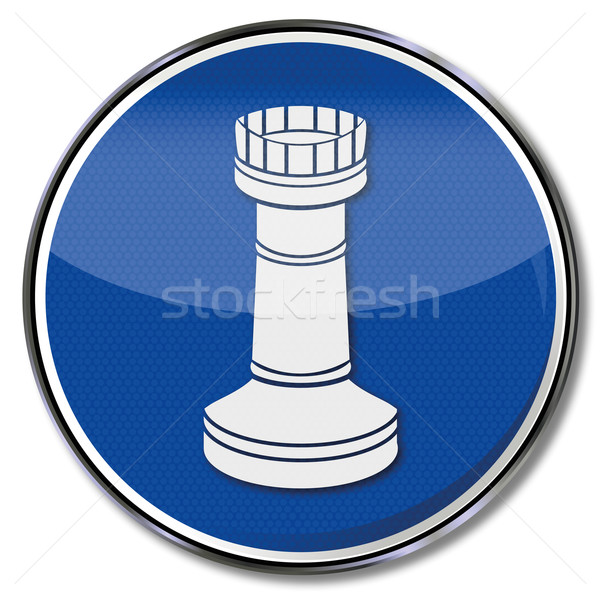 Sign chessman tower Stock photo © Ustofre9