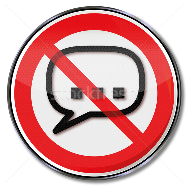 Prohibition sign speech, freedom of the press and censorship Stock photo © Ustofre9
