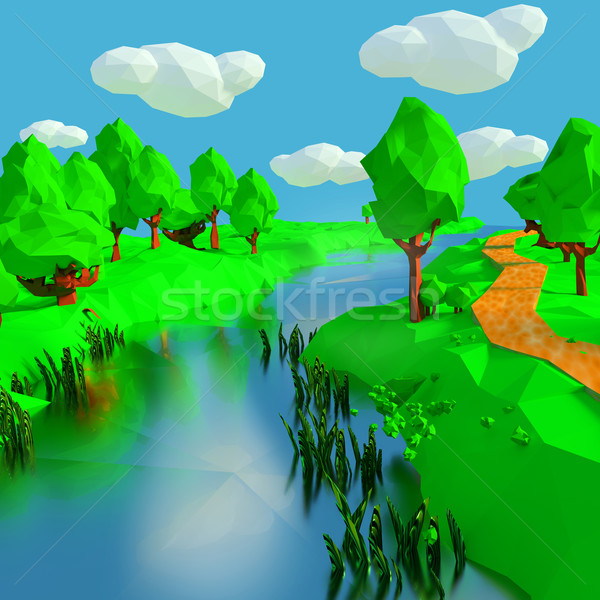Small river in the countryside Stock photo © Ustofre9