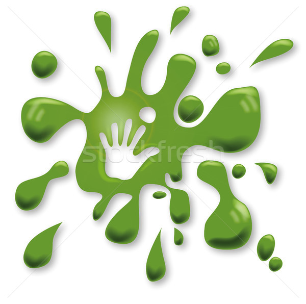 Green spots with a hand Stock photo © Ustofre9