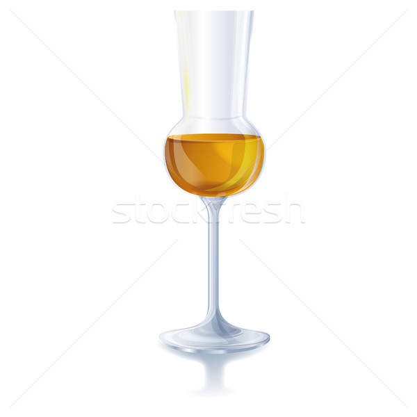 Glas with grappa or brandy Stock photo © Ustofre9