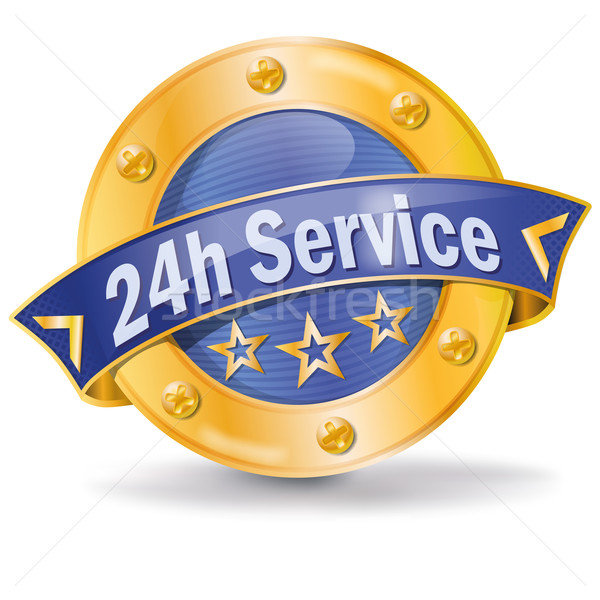 Button 24 hour service  Stock photo © Ustofre9