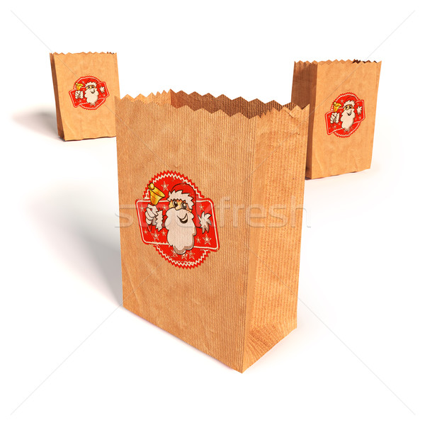 Paper bags with with Santa Claus Stock photo © Ustofre9