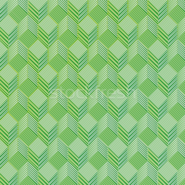 Green dice on a fabric pattern Stock photo © Ustofre9