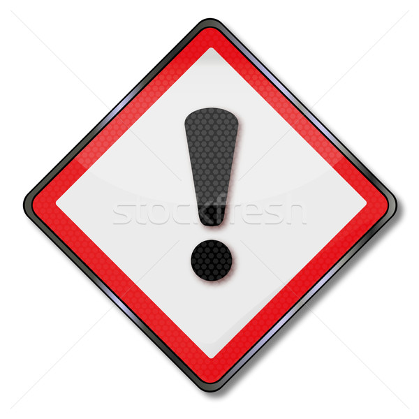 Danger sign warning hazard and hazardous substances Stock photo © Ustofre9