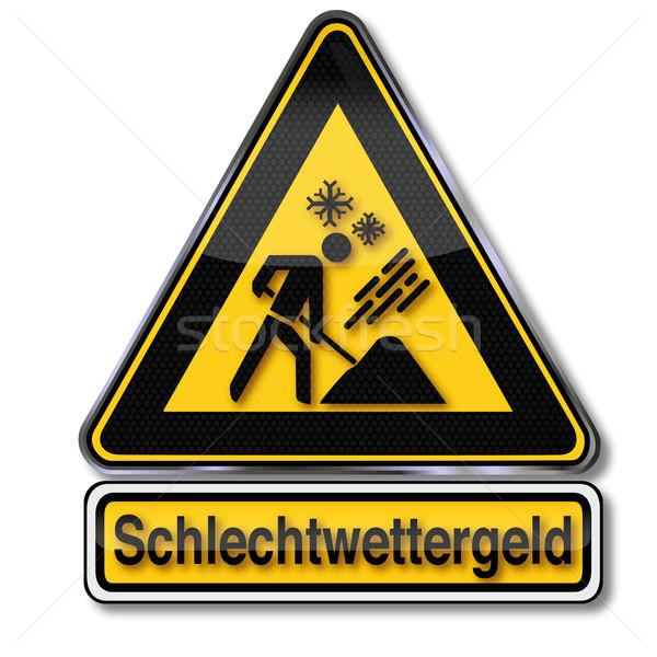 Danger sign bad weather money Stock photo © Ustofre9