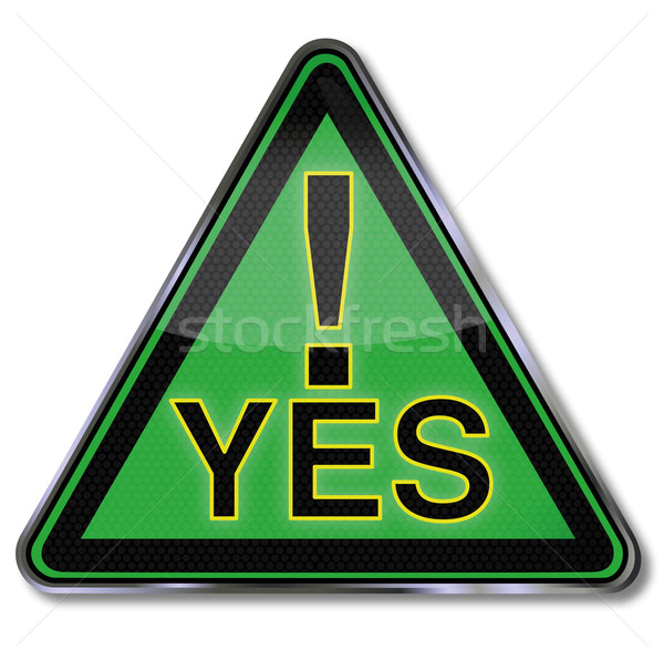 Green sign with a big yes  Stock photo © Ustofre9