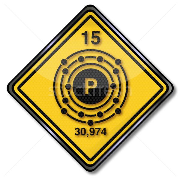 знак химии характер фары признаков пластиковых Сток-фото © Ustofre9