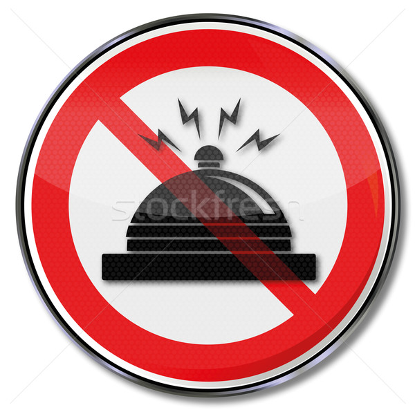 Prohibition sign hotel bell, noise and front desk  Stock photo © Ustofre9