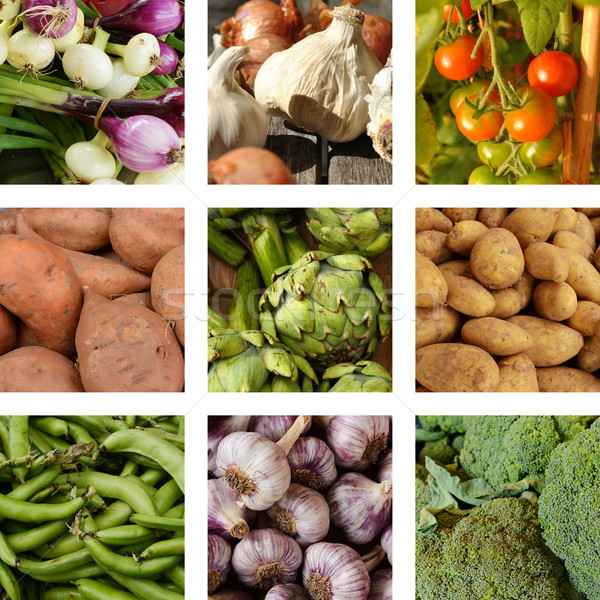 Nine images of vegetables  Stock photo © Ustofre9