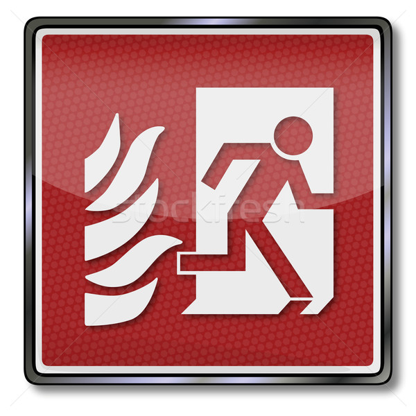 Cas feu exit sign urgence quitter Photo stock © Ustofre9
