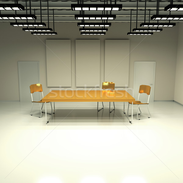 Stanza tavola sedie business costruzione muro Foto d'archivio © Ustofre9