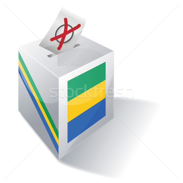 Ballot box Gabon Stock photo © Ustofre9