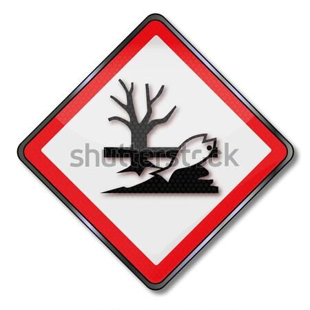 Sinal de perigo perigo ferimento dano metal ácido Foto stock © Ustofre9