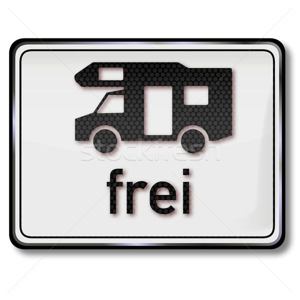 Panneau de signalisation libre voiture nature été signe Photo stock © Ustofre9