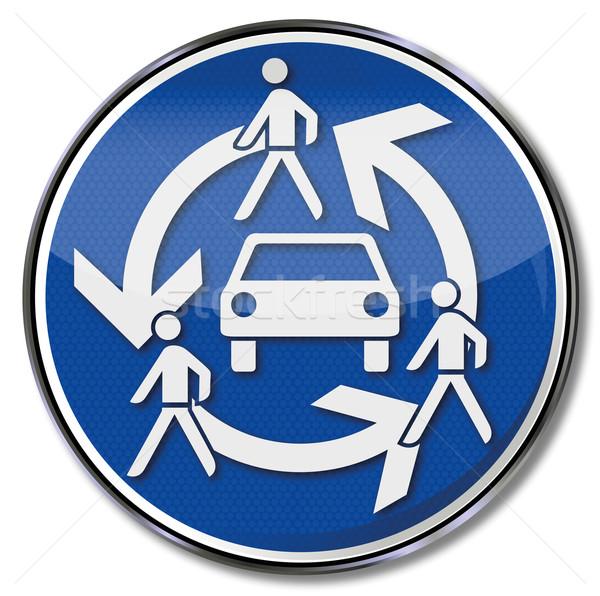 Trafik işareti imzalamak araba yol şehir trafik Stok fotoğraf © Ustofre9