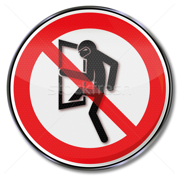 Prohibition sign for burglars  Stock photo © Ustofre9