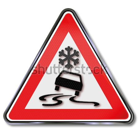 Sign winter check for your car  Stock photo © Ustofre9