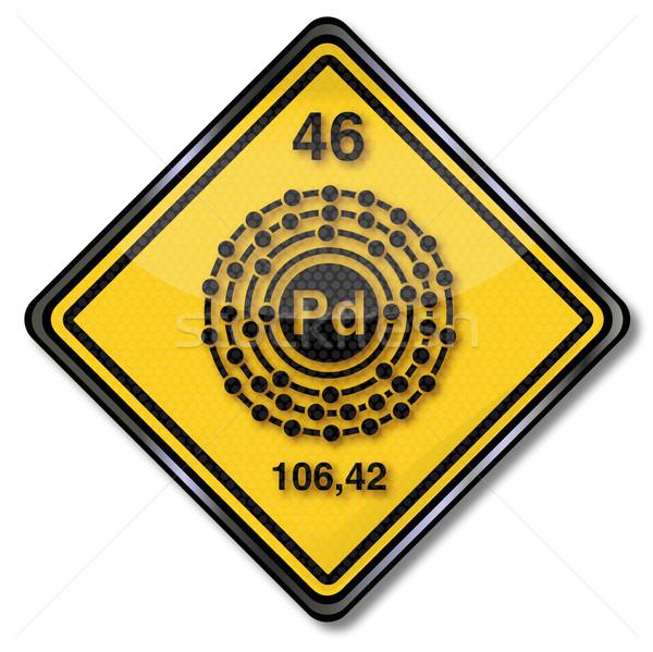 Assinar química sinais pesquisa etiqueta Foto stock © Ustofre9