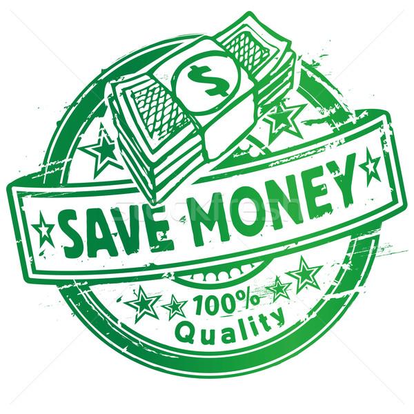 Pecsét megtakarítás dollár üzlet bank bolt Stock fotó © Ustofre9