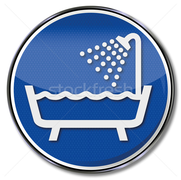 Sign with shower and bathtub Stock photo © Ustofre9