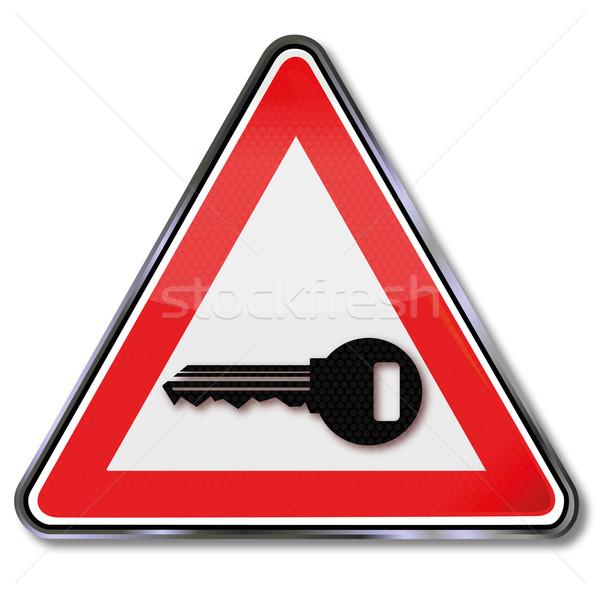 Sign key, lockbox and key service Stock photo © Ustofre9
