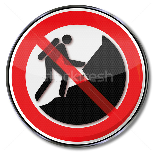 Prohibition sign forbidden to climb on the slope Stock photo © Ustofre9