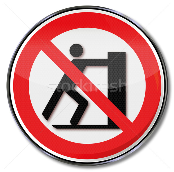 Prohibition sign slide prohibited  Stock photo © Ustofre9
