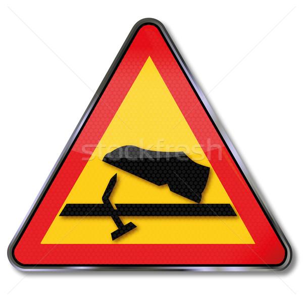 Precaución unas pie lesión signo Foto stock © Ustofre9