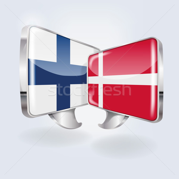 Bubbles and Speech in Finnish and Danish Stock photo © Ustofre9