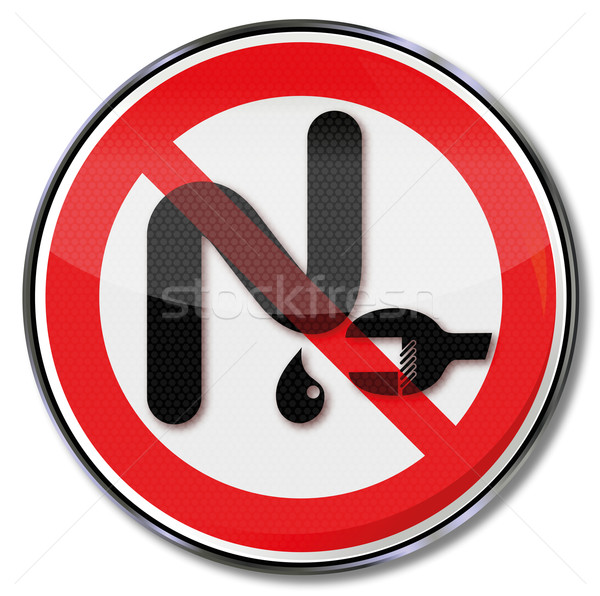 Prohibition sign with siphon Stock photo © Ustofre9