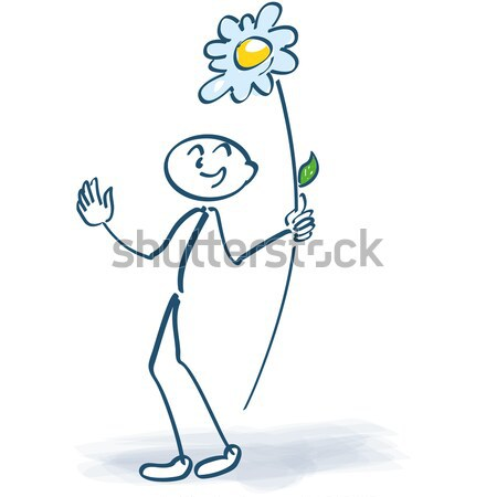 Stick figure with cloud lolly Stock photo © Ustofre9
