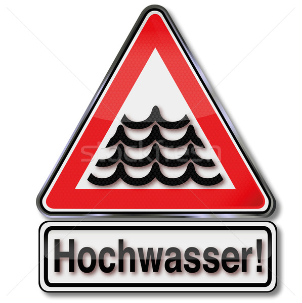 Flood warning sign Stock photo © Ustofre9