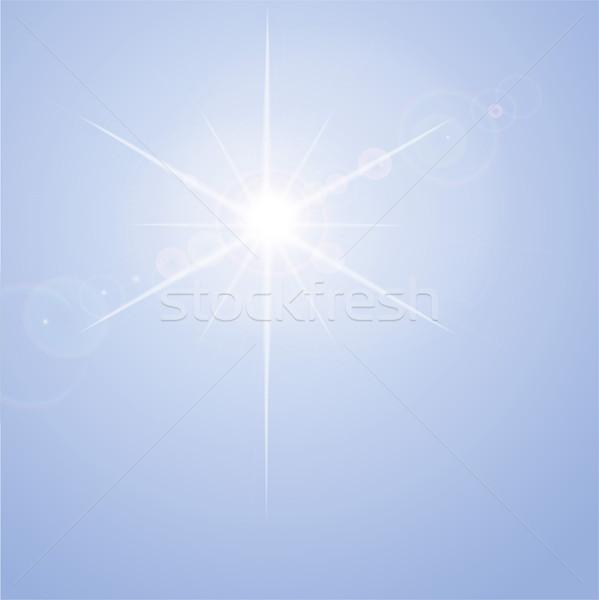 Blue back light and sun rays  Stock photo © Ustofre9