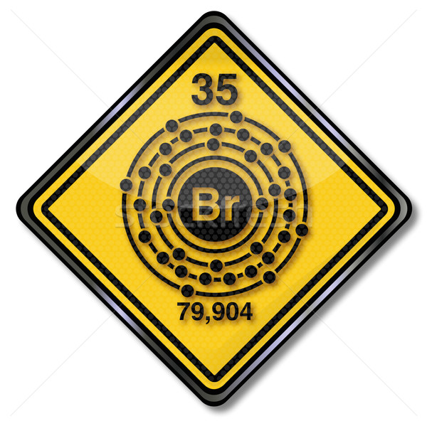 Sign chemistry character bromine Stock photo © Ustofre9