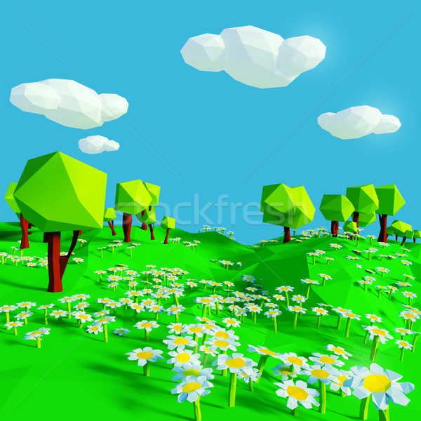 Meadow with small flowers  Stock photo © Ustofre9