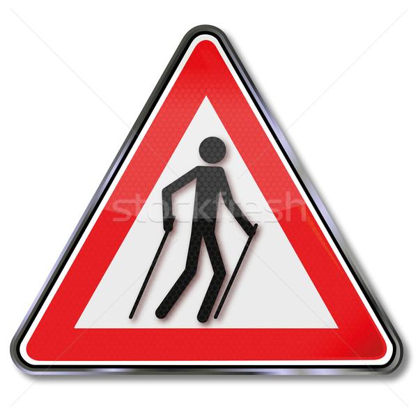 Assinar atenção prato sinais corrida Foto stock © Ustofre9