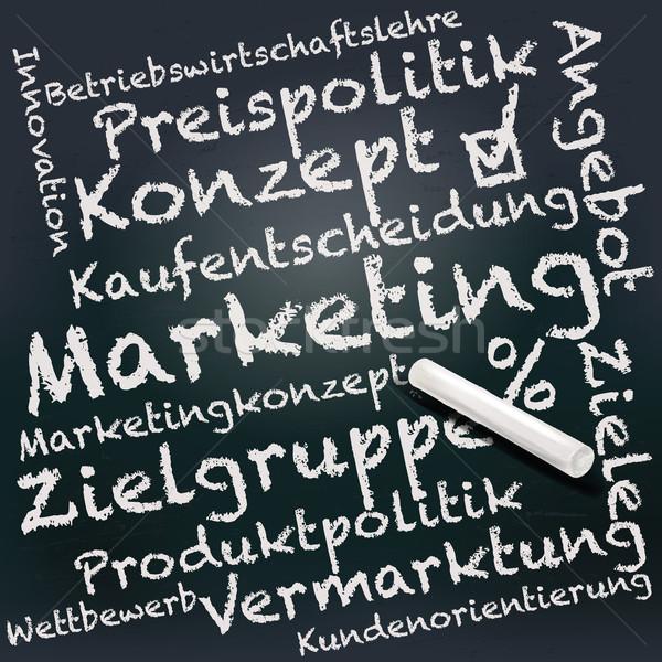 Tablicy kredy obrotu sprzedaży nauczania seminarium Zdjęcia stock © Ustofre9
