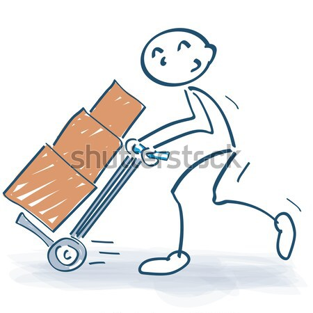 Stick figure with a sackcloth and a thick envelope Stock photo © Ustofre9
