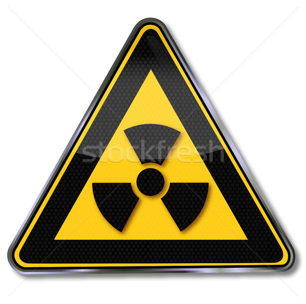Sign caution Radioactive substances and radiation Stock photo © Ustofre9