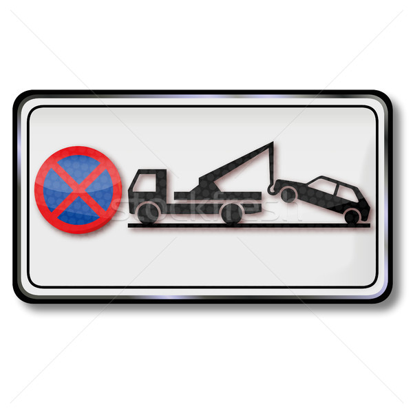 Traffic sign  parking ban and trailers Stock photo © Ustofre9